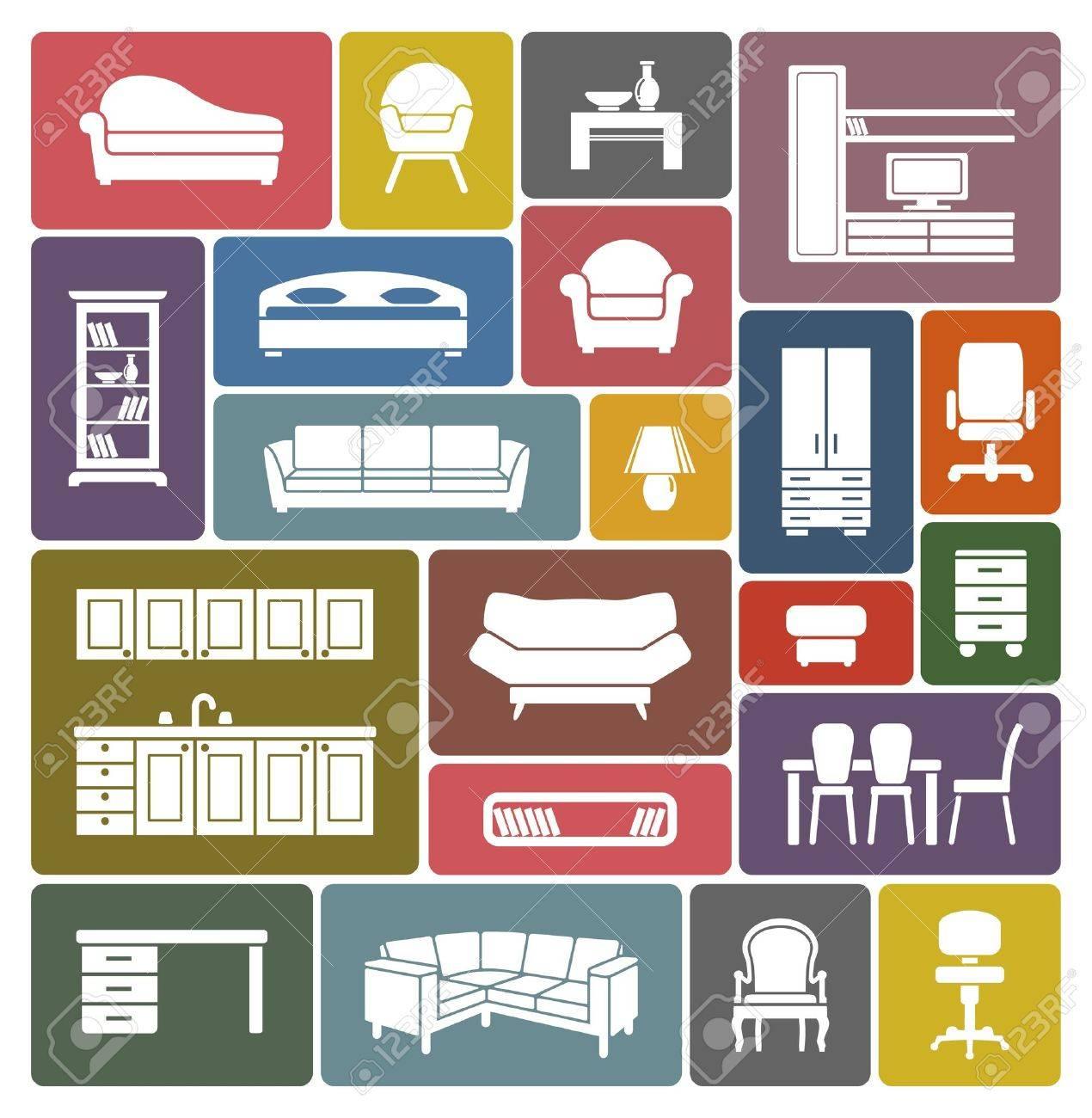 Furniture icon set - 18499084