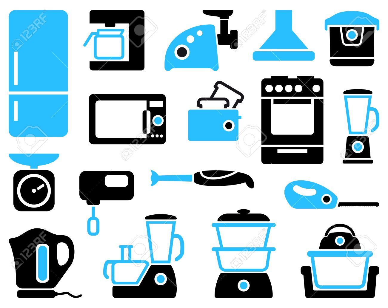 Uncategorized Household Kitchen Appliances kitchen home appliances royalty free cliparts vectors and stock vector 18784768