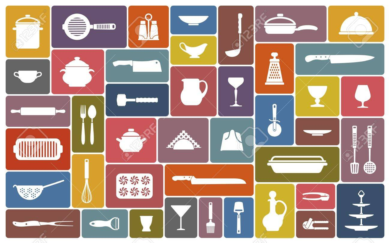 Cooking icons Stock Vector - 20172236