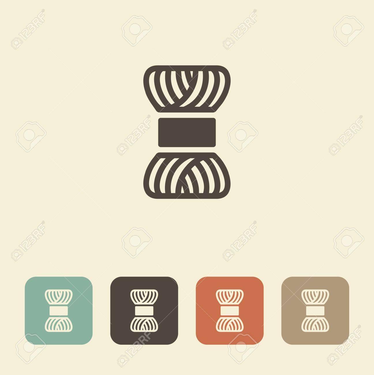 Un Símbolo De La Costura Y Tejido. Una Madeja De Hilo. Ilustraciones ...