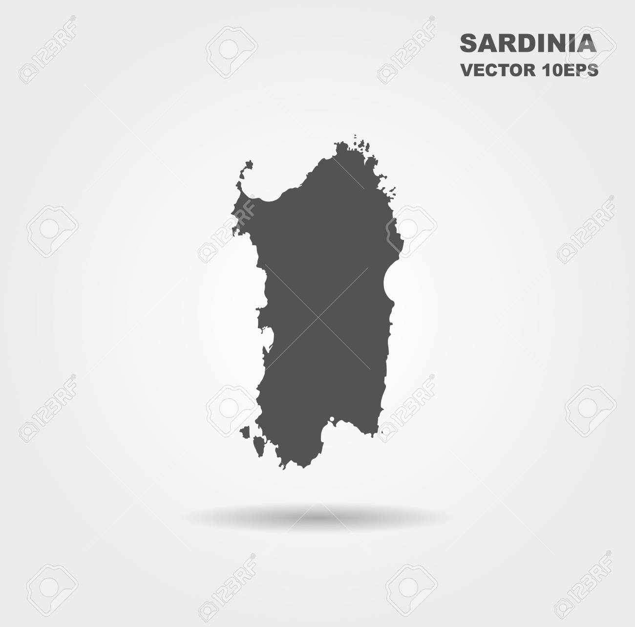 Map Of Sardinia Italy Vector Illustration Royalty Free Cliparts