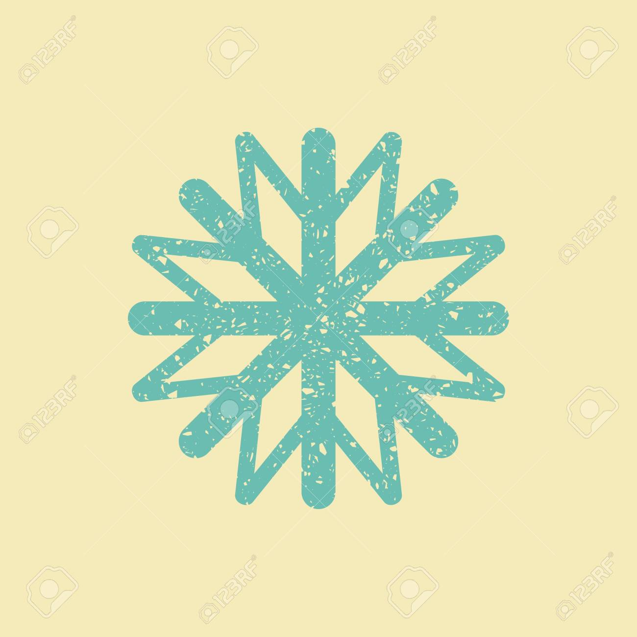 The Symbol Of Winter And Christmas Snowflake In Retro Style Royalty