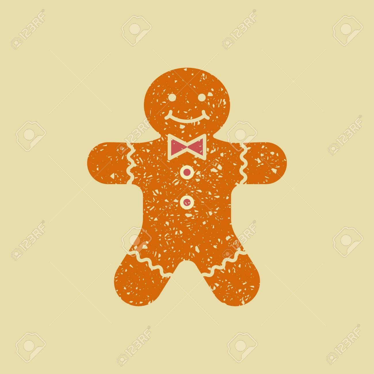 Biscuits De Noel Au Gingembre Bonhomme En Pain D Epice Vecteur