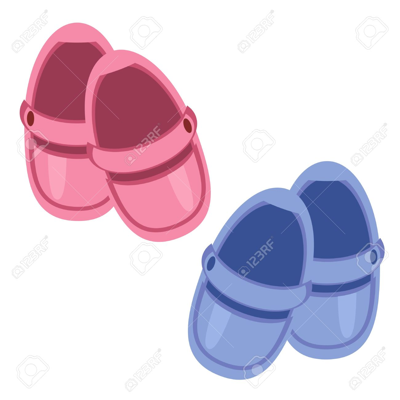 children shoes on white background Stock Vector - 12364547