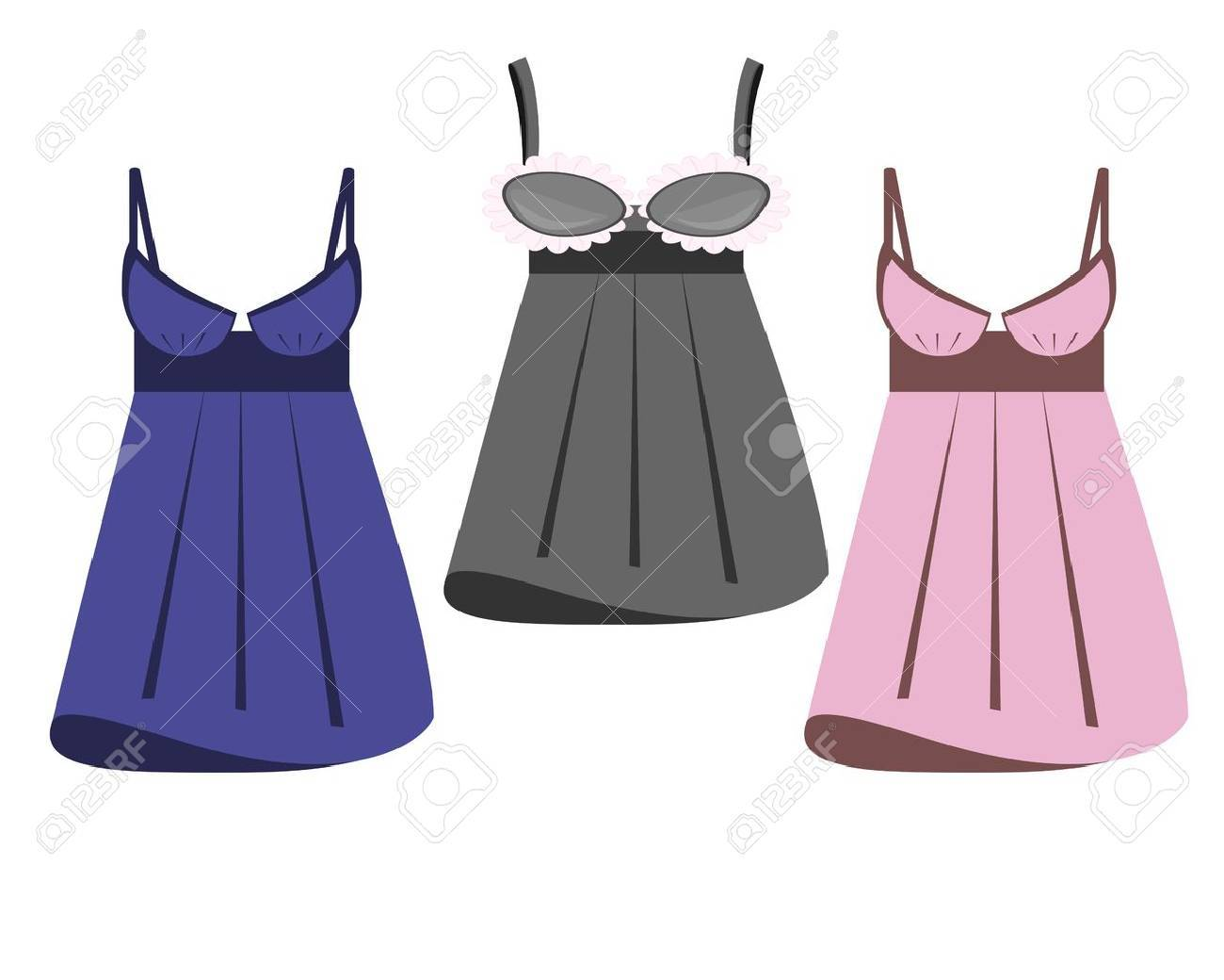 Lingerie On White Background Royalty Free Cliparts, Vectors, And ...