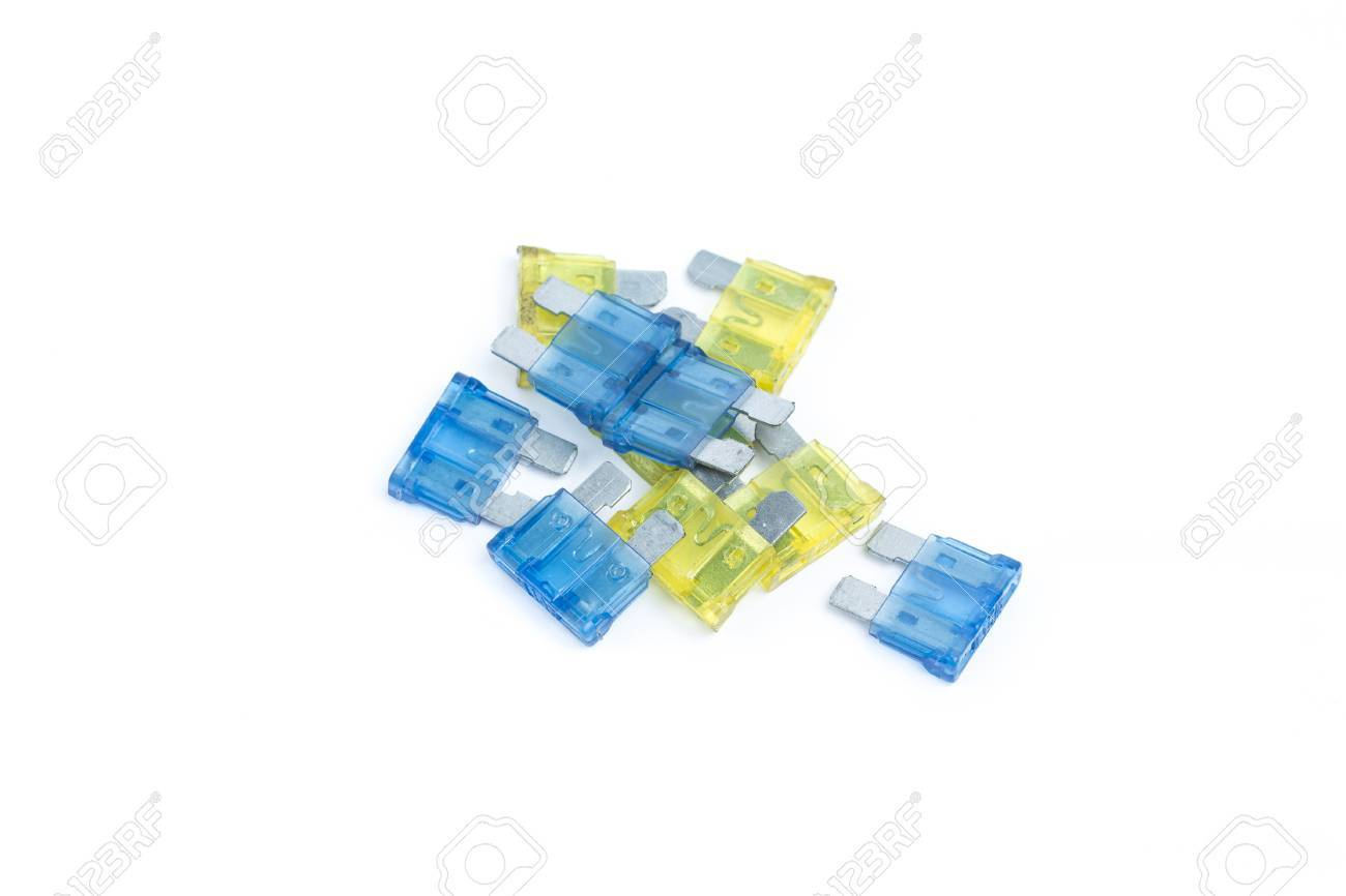 Car fuse  Pile of colorful electrical automotive fuses or circuit