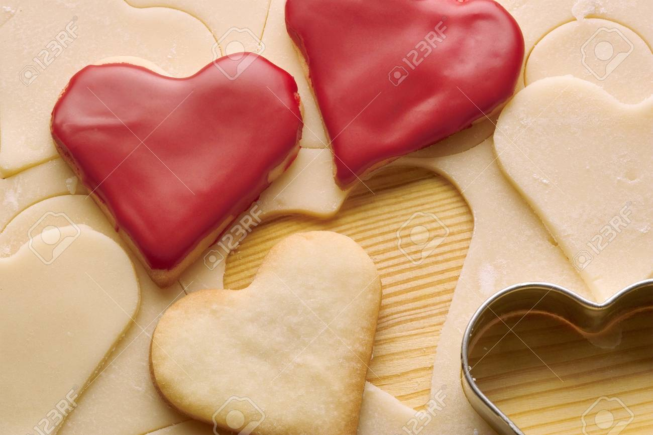 heart biscuits and dough Stock Photo - 7636698