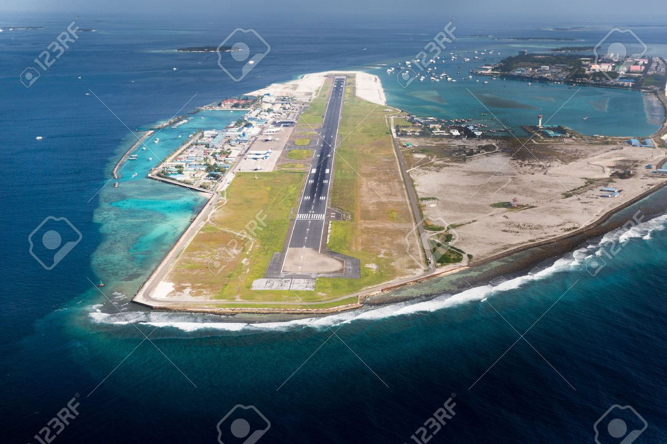 Aeroporto Male : Picture of main airport in male capital of maldives region stock