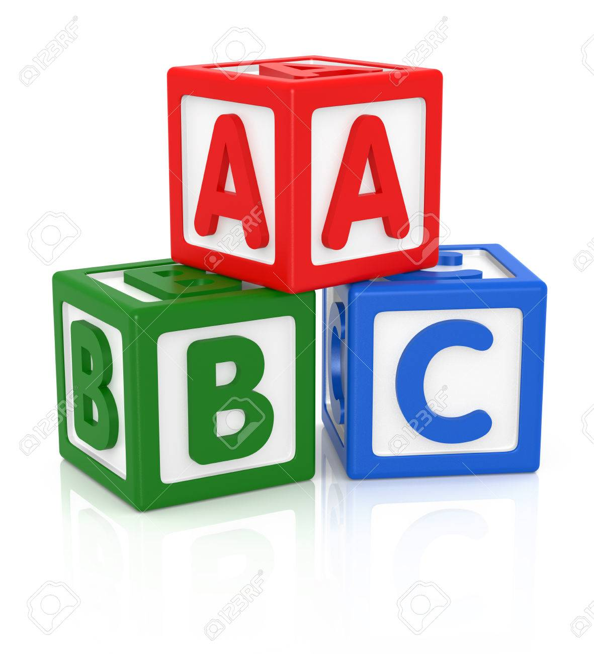 Abc Letters Made From Baby Toys Color Blocks With Alphabet Letters