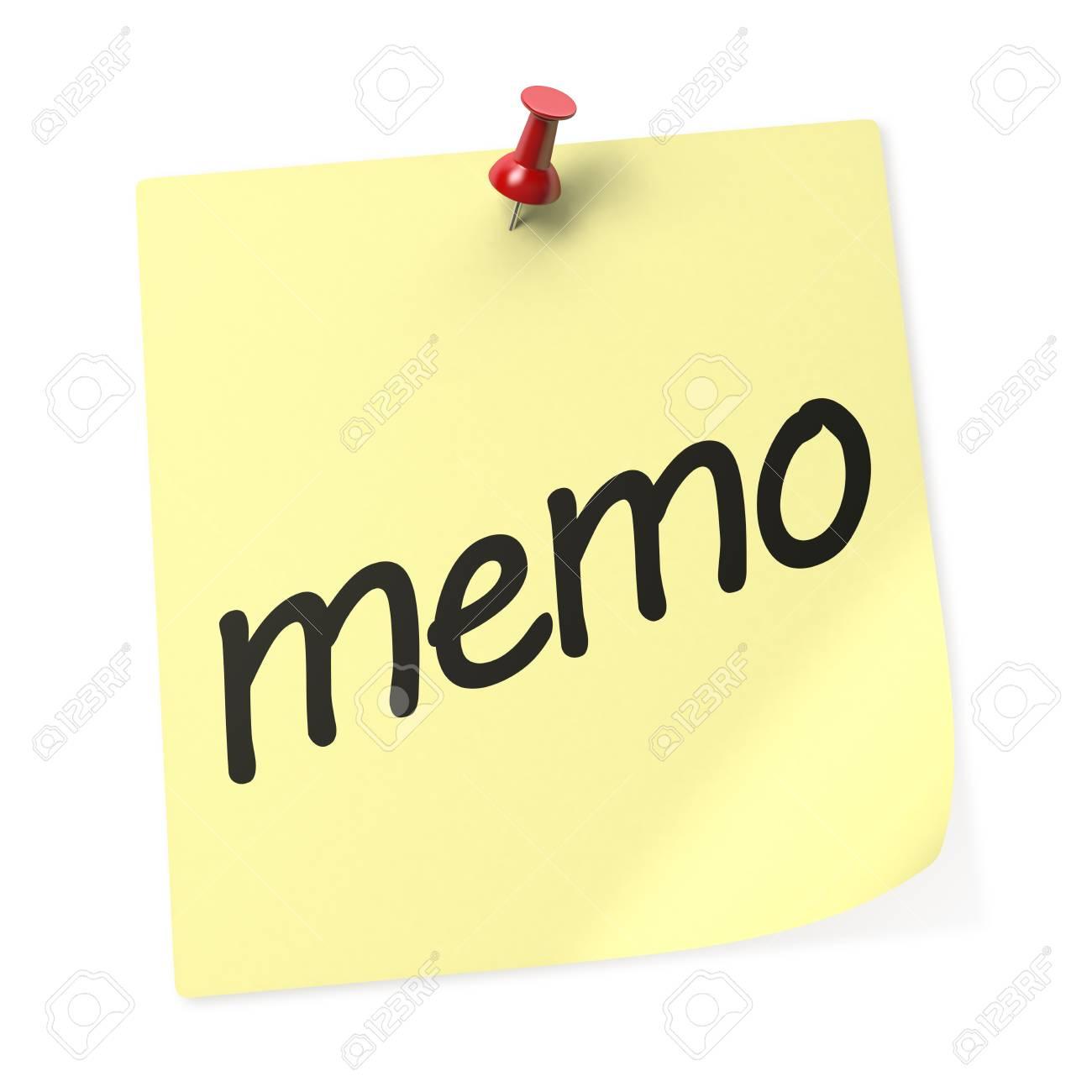 Memo Livre Jaune Note Collante Avec Red Push Pin Rendu 3d