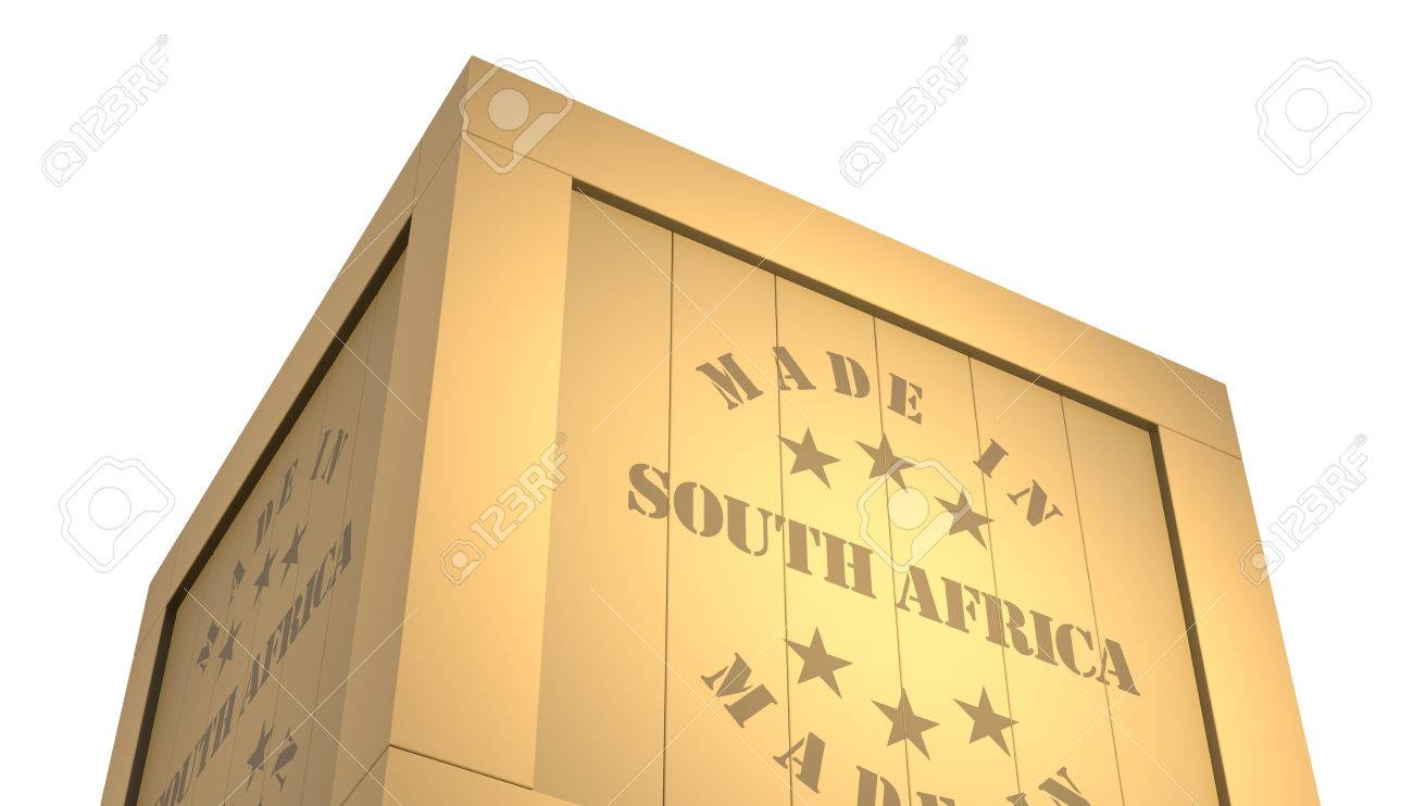 Import - Export Wooden Crate  Made In South Africa  3D