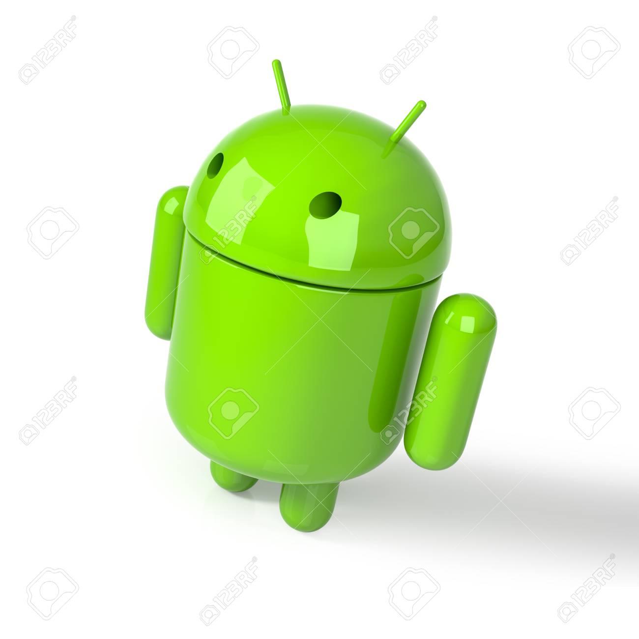 Izmir - Turkey - December 13, 2017: Android symbol figure on