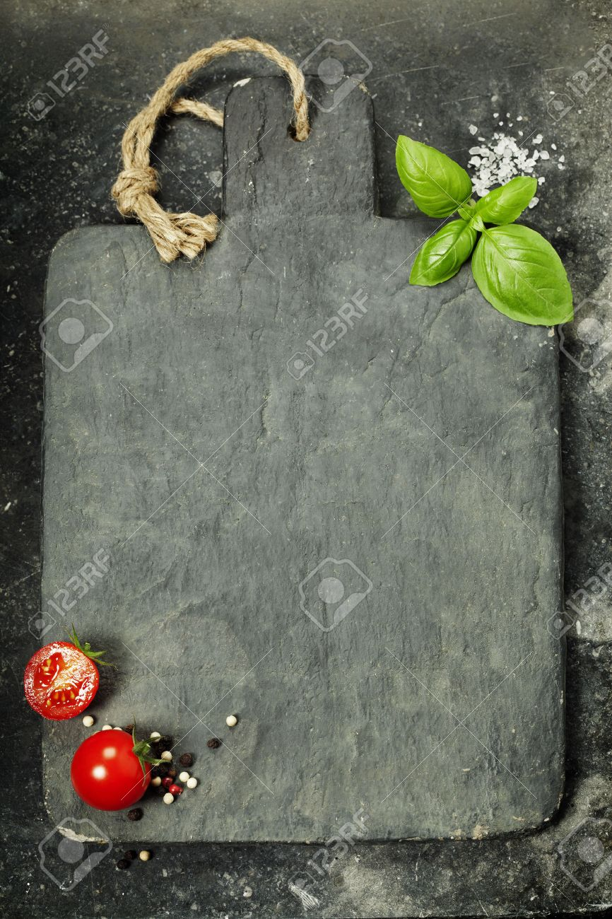 Vintage Cutting Board And Fresh Ingredients - Cooking, Healthy ...