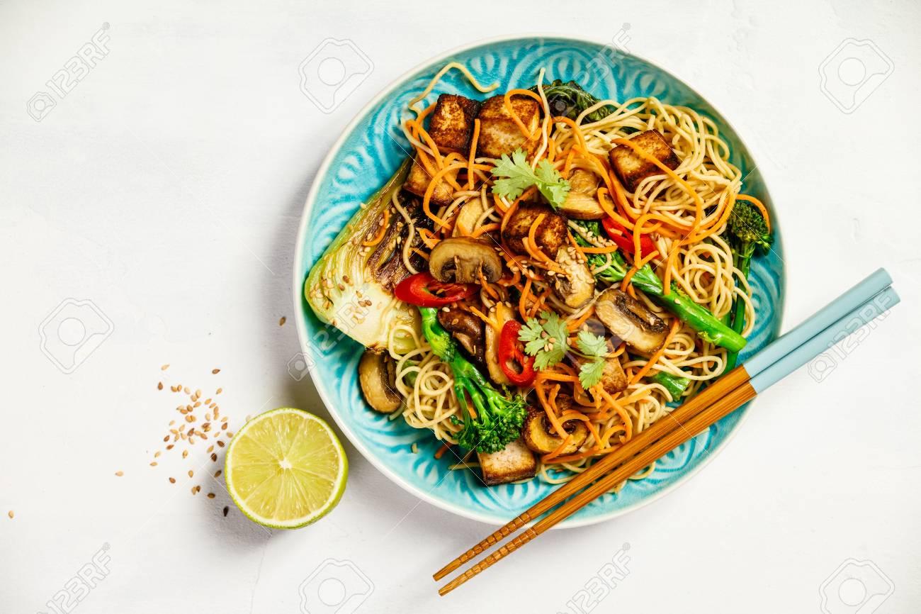 Asian Tofu Soba Noodle Bowl - 108037758