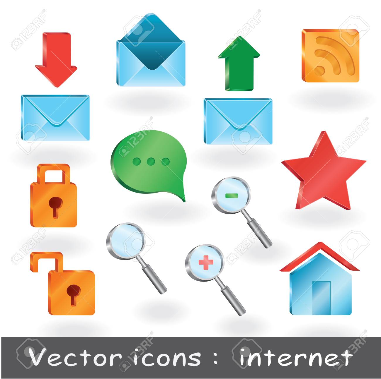 12 pro icons for web presentation or for web sites royalty free