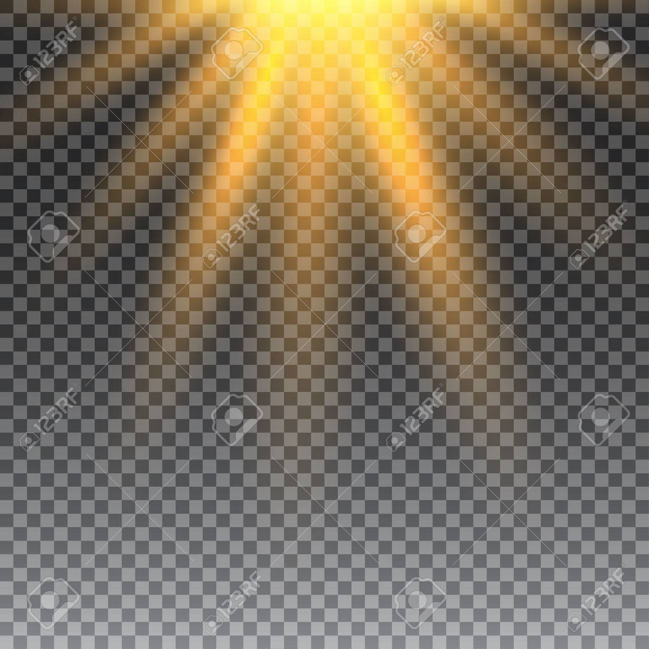 Vector Transparent Sunlight Special Lens Flare Light Effect Sun Flash With Rays And Spotlight Stock
