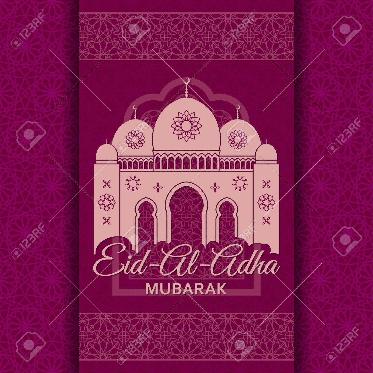 Eid al adha background mosque and islamic arabic window greeting eid al adha background mosque and islamic arabic window greeting card vector illustration kristyandbryce Images