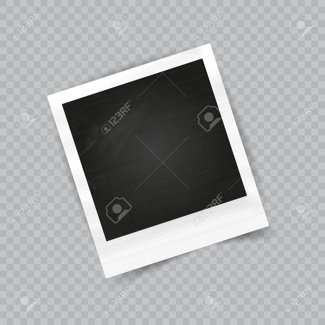Marco De La Foto Vacío Realista Con Sombra Transparente En El Fondo ...