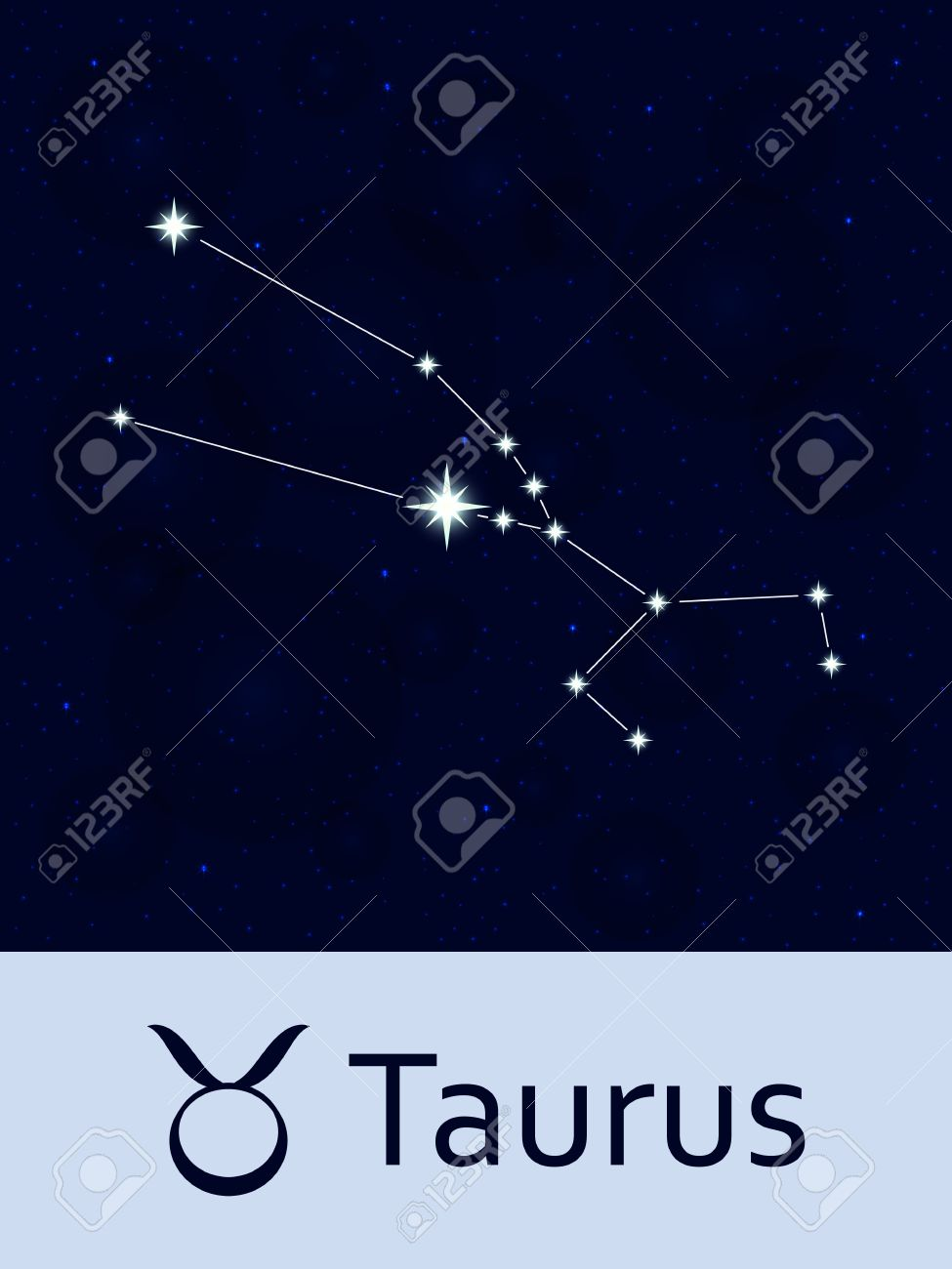 Zodiac sign Taurus  Horoscope constellation star  Abstract space