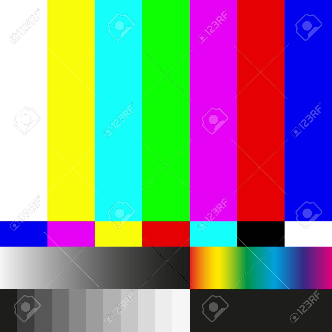 Test Tv Screen Background And Television Error Illustration Royalty