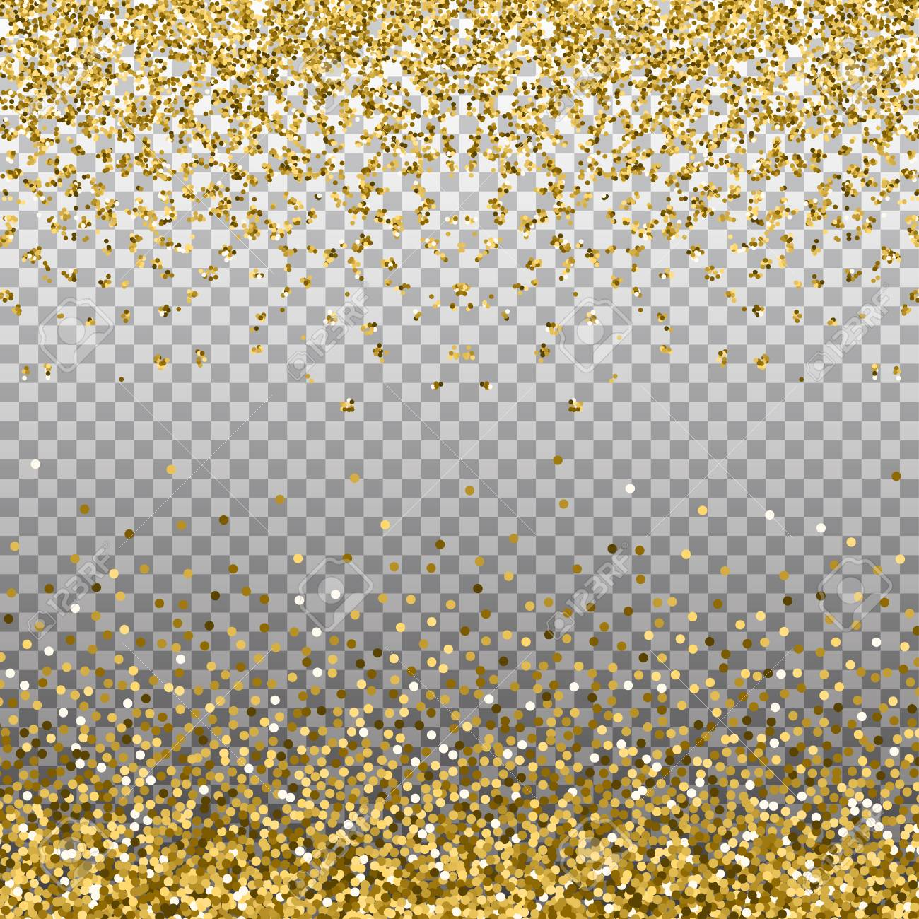 gold glitter background golden sparkles on border template