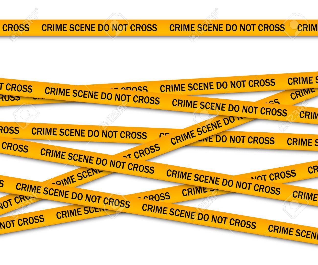 crime scene do not cross yellow police tape vector illustration