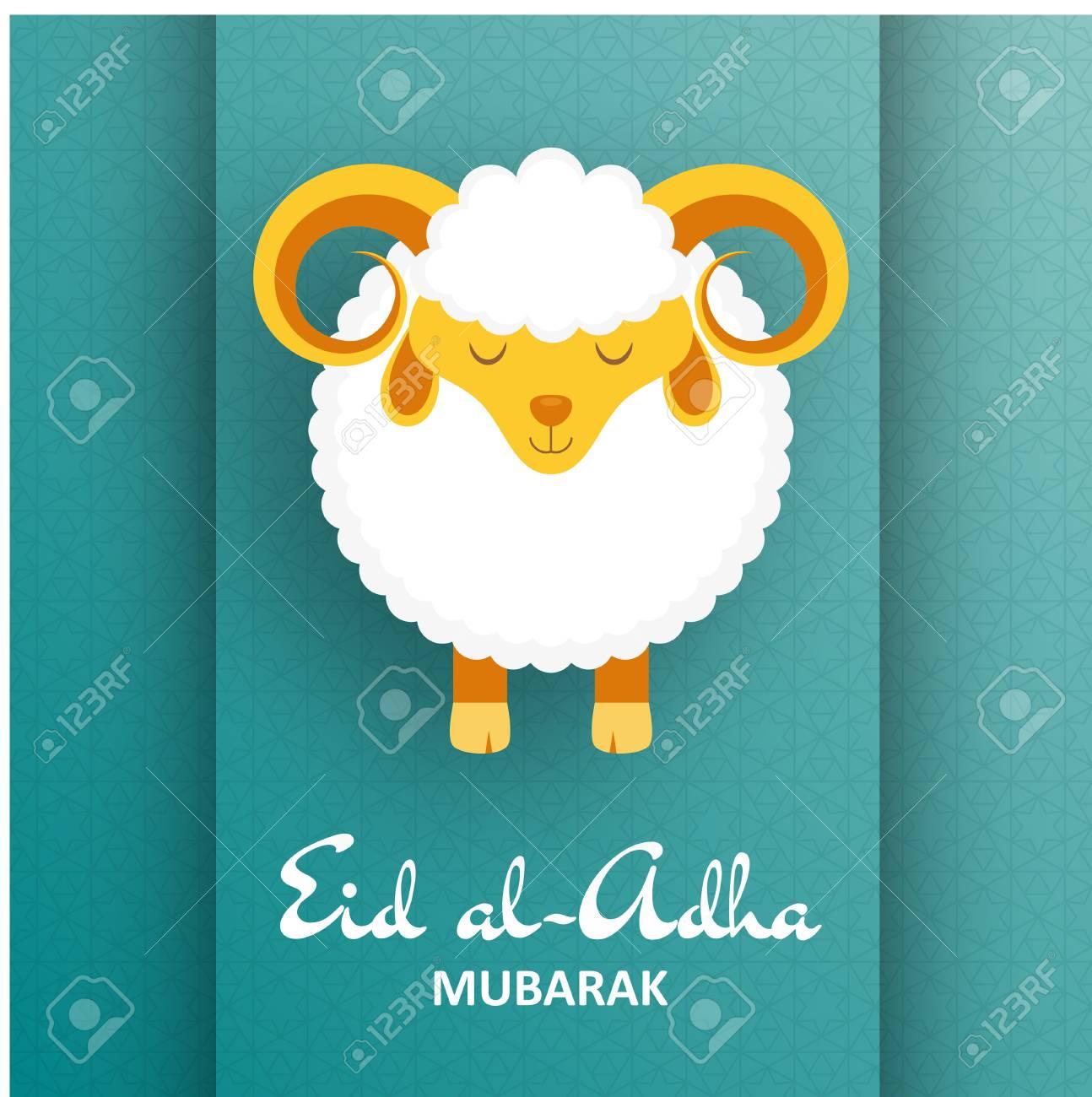 Eid Al Adha Background Greeting Card Vector Illustration Royalty