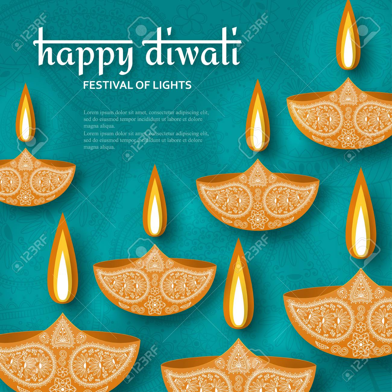 Greeting card for diwali festival celebration in india vector greeting card for diwali festival celebration in india vector illustration stock vector 86633313 kristyandbryce Images