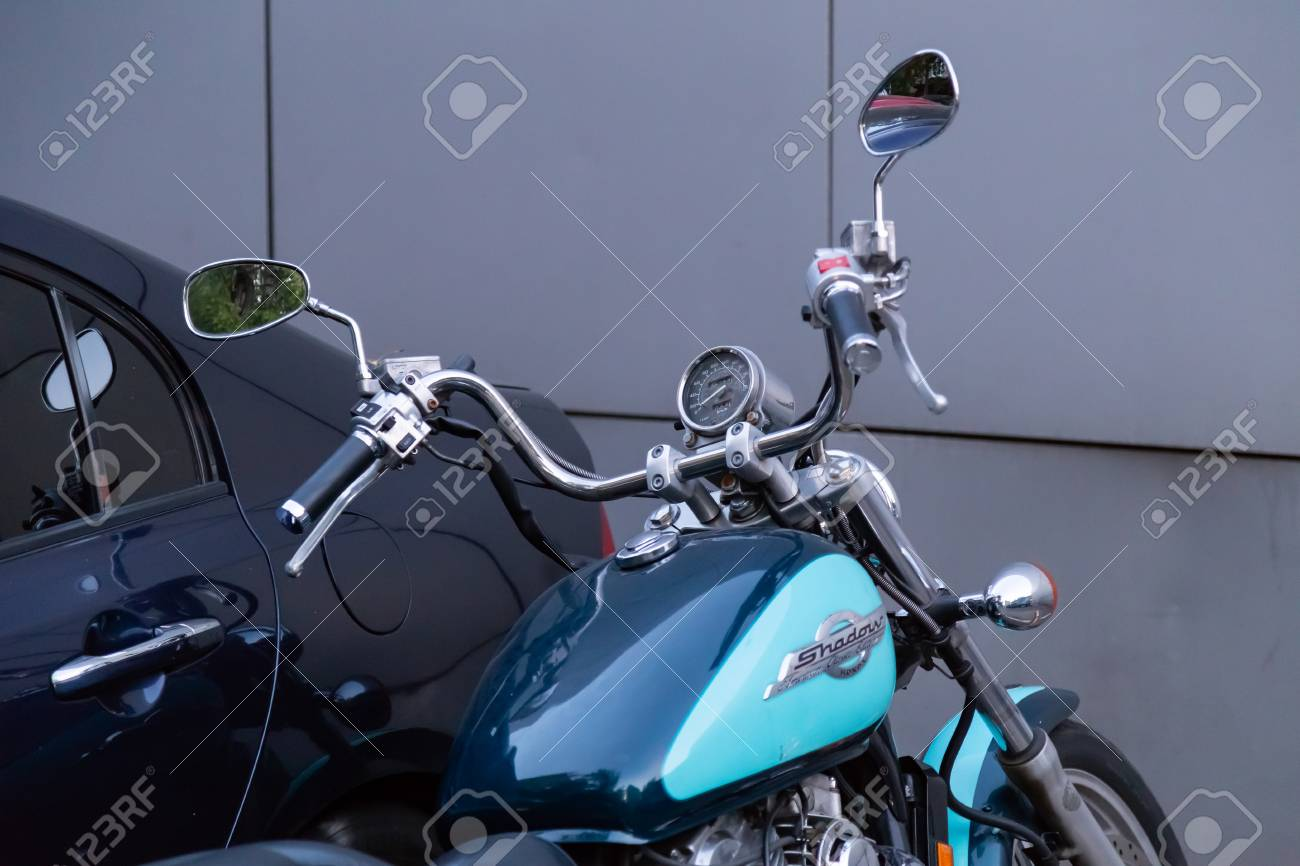 Moscow Russia August 17 2018 Motorcycle Honda Shadow American