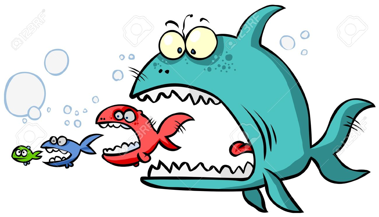 Fish Eating Fish Cartoon Cartoon Big Fish Eating up The