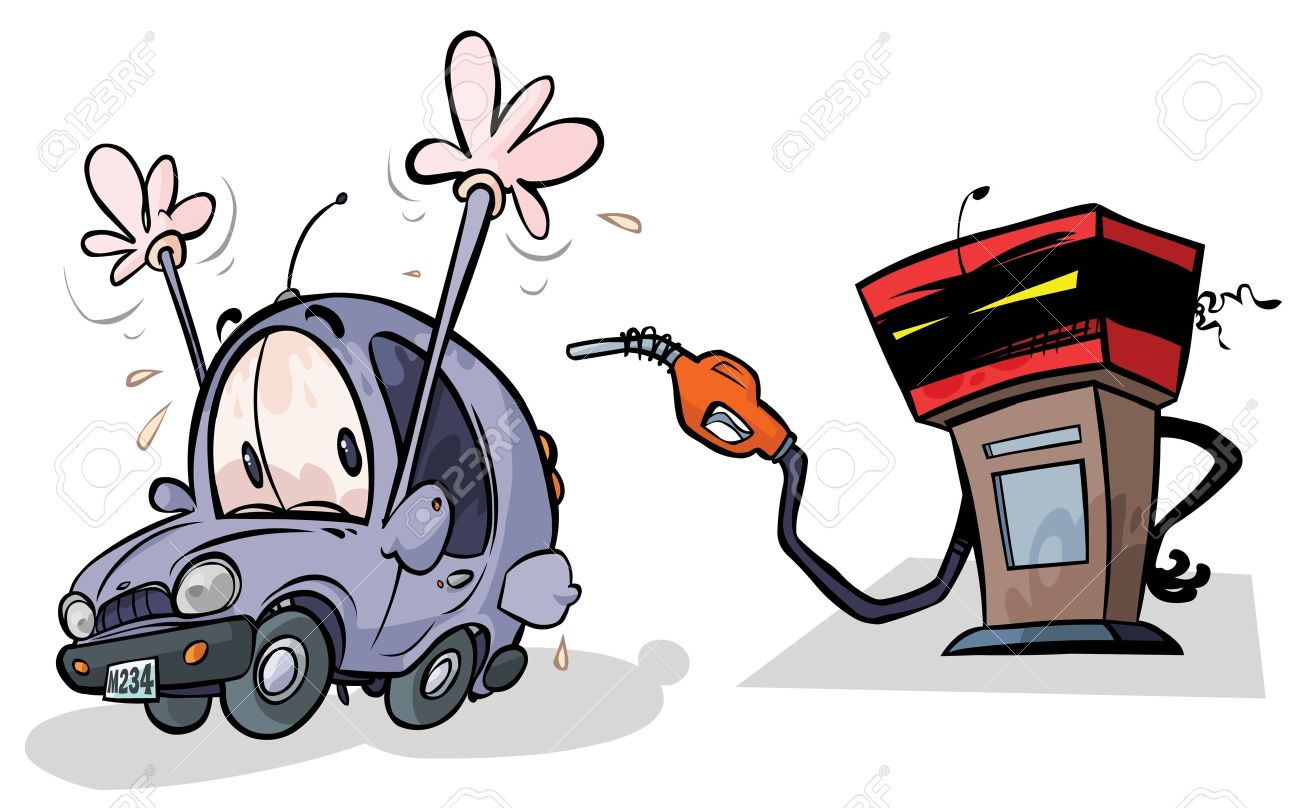 Cartoon Gas Pump and Car Stock Vector - 14125374