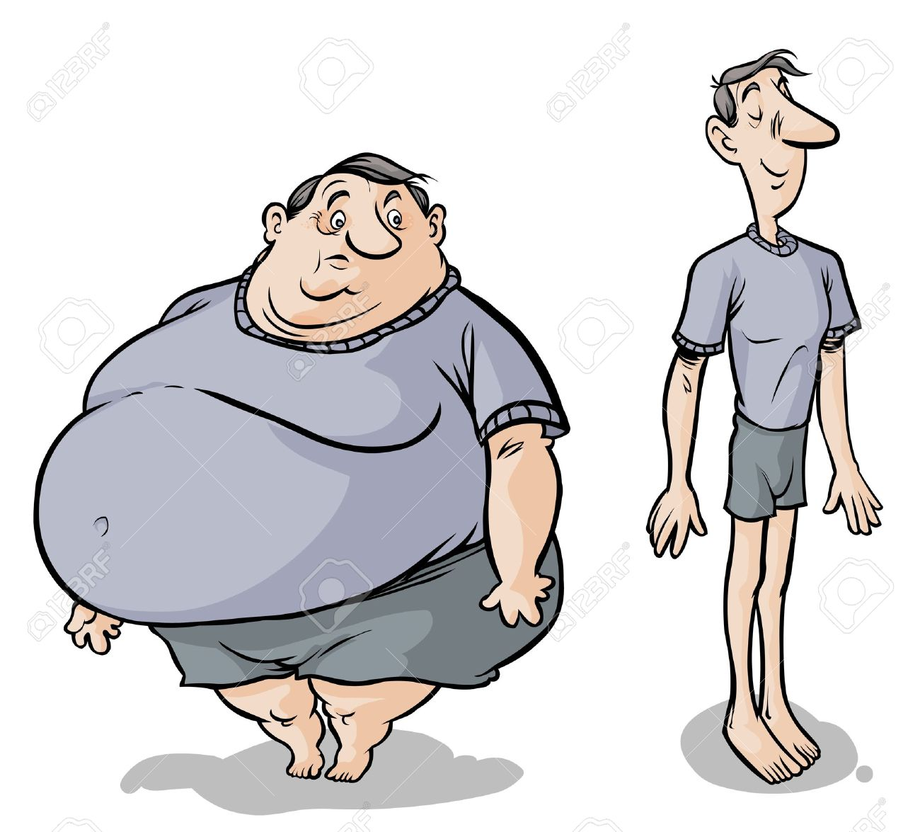 18786098-Cartoon-Fat-slim-male-characters--Stock-Vector-thin.jpg (1300×1175)