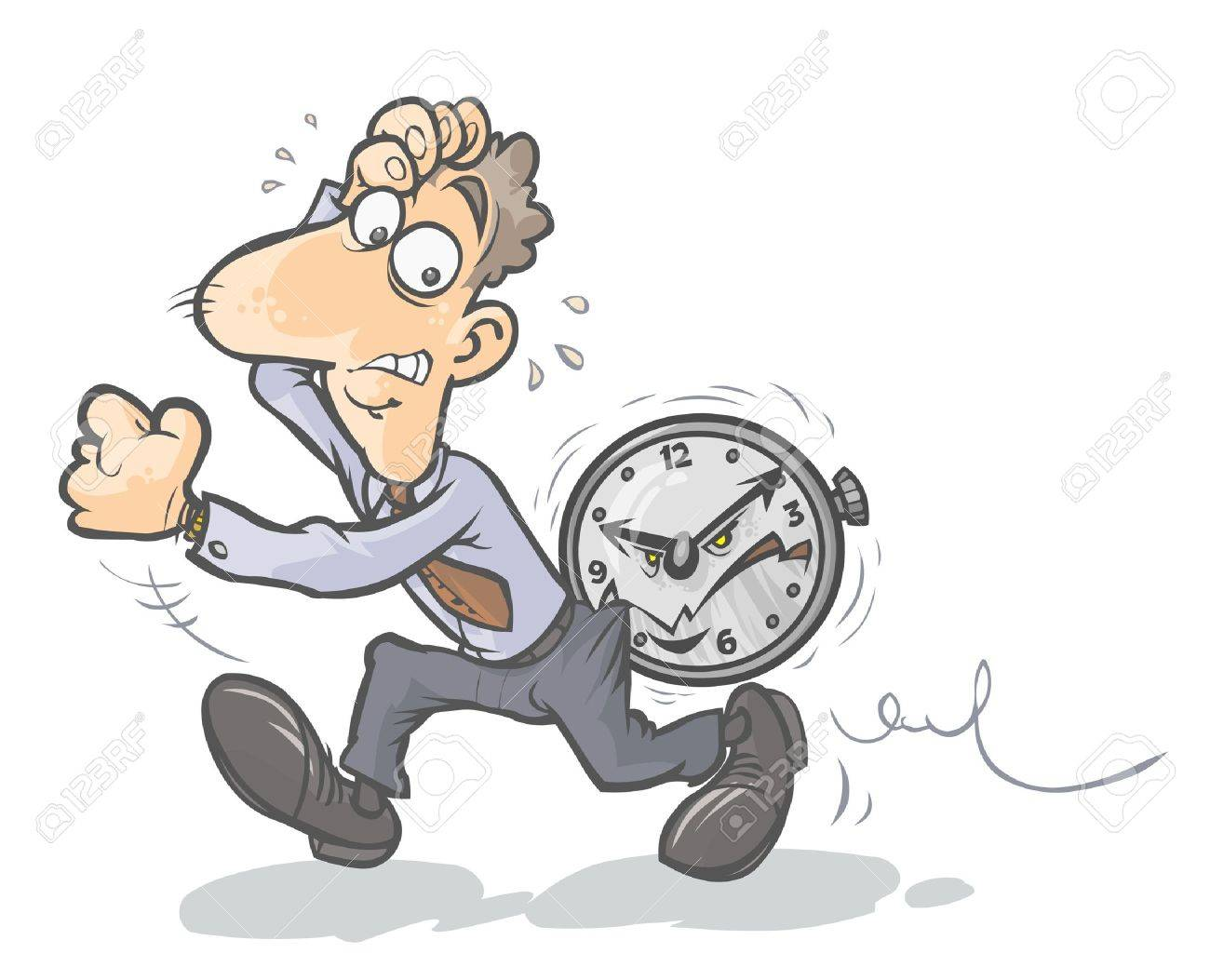 Hurried Businessman Stock Vector - 20685145