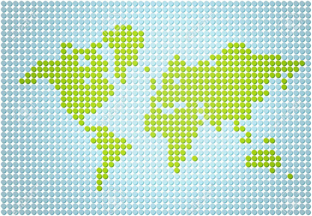 Stylish world map made out of dots stock photo picture and royalty stock photo stylish world map made out of dots gumiabroncs Image collections