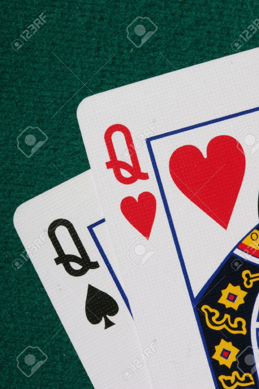 Close Up Of Pocket Qq A Very Strong Hand In Texas Holdem Poker Stock Photo Picture And Royalty Free Image Image 474510