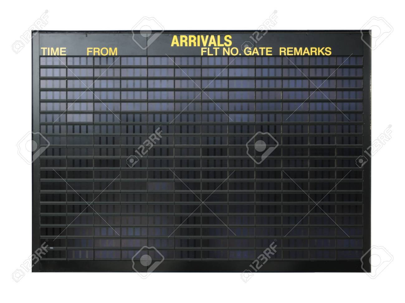 Blank airport board isolated on white background - 1415129