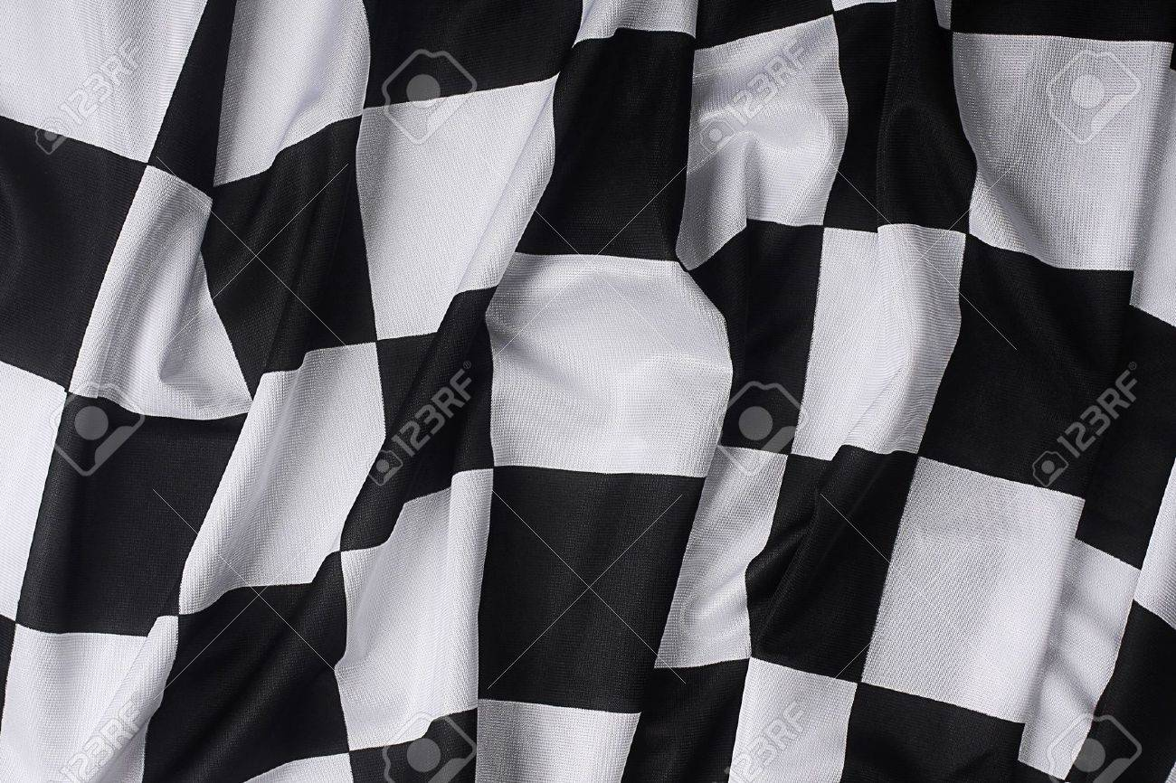 This is a real checkered flag of high quality - texture details in the material Stock Photo - 2454257