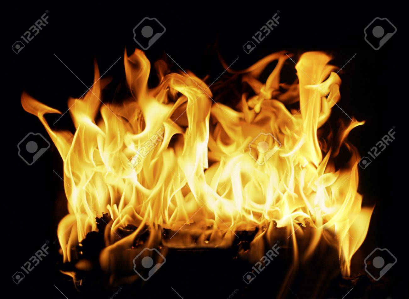 Beautiful stop-motion photo of a burning log in a fireplace Stock Photo - 2782304