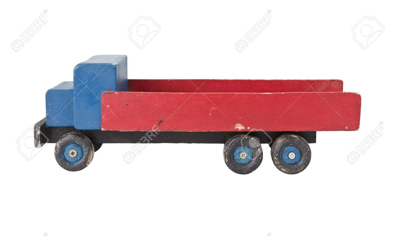 Vintage Wooden Toy Truck Homemade