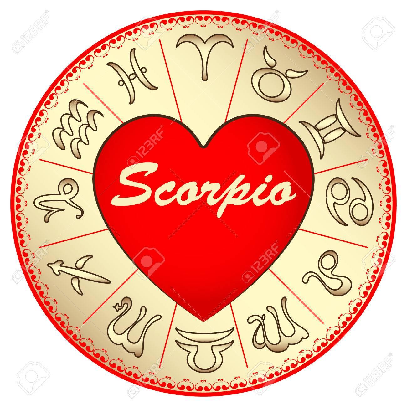 Sternzeichen Skorpion Fur Verliebte Am Valentinstag Lizenzfrei