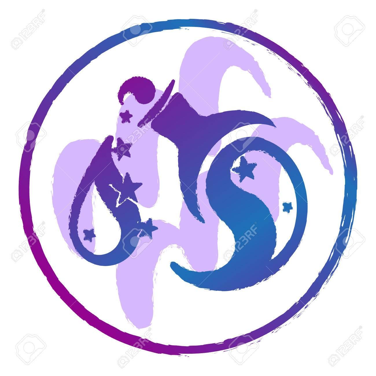 星座水瓶座水彩ベクトル イラストのイラスト素材ベクタ Image