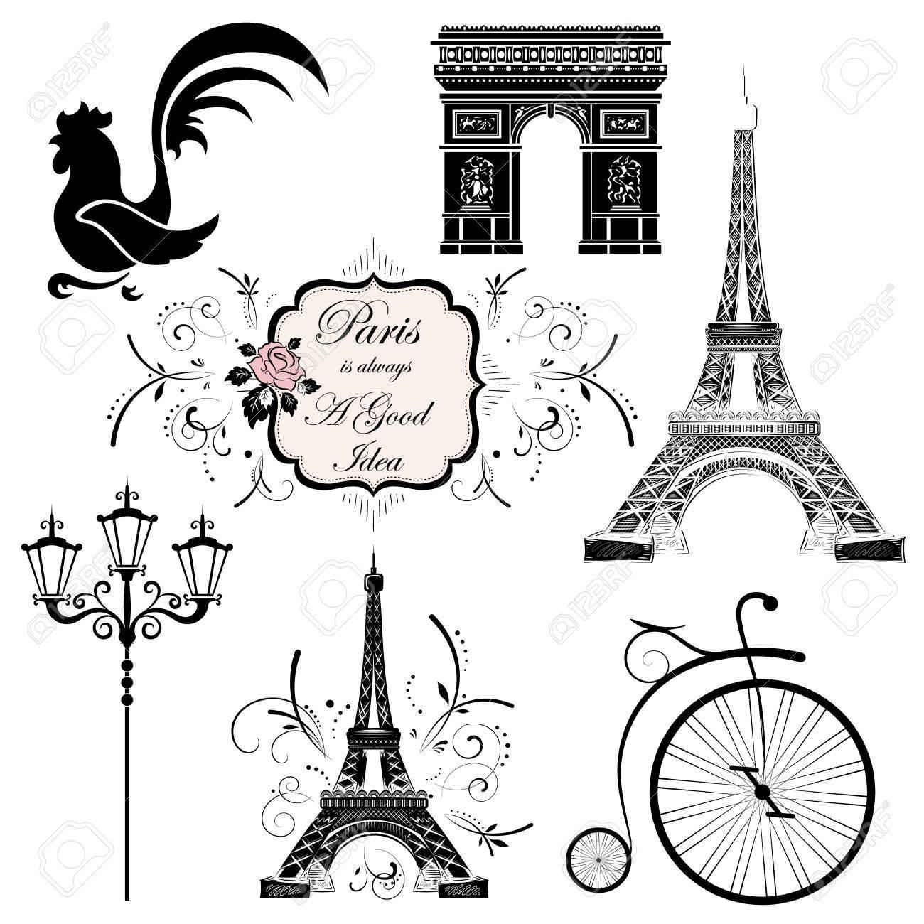 A set of symbols and landmarks of france vector illustration a set of symbols and landmarks of france vector illustration stock vector 52633328 buycottarizona