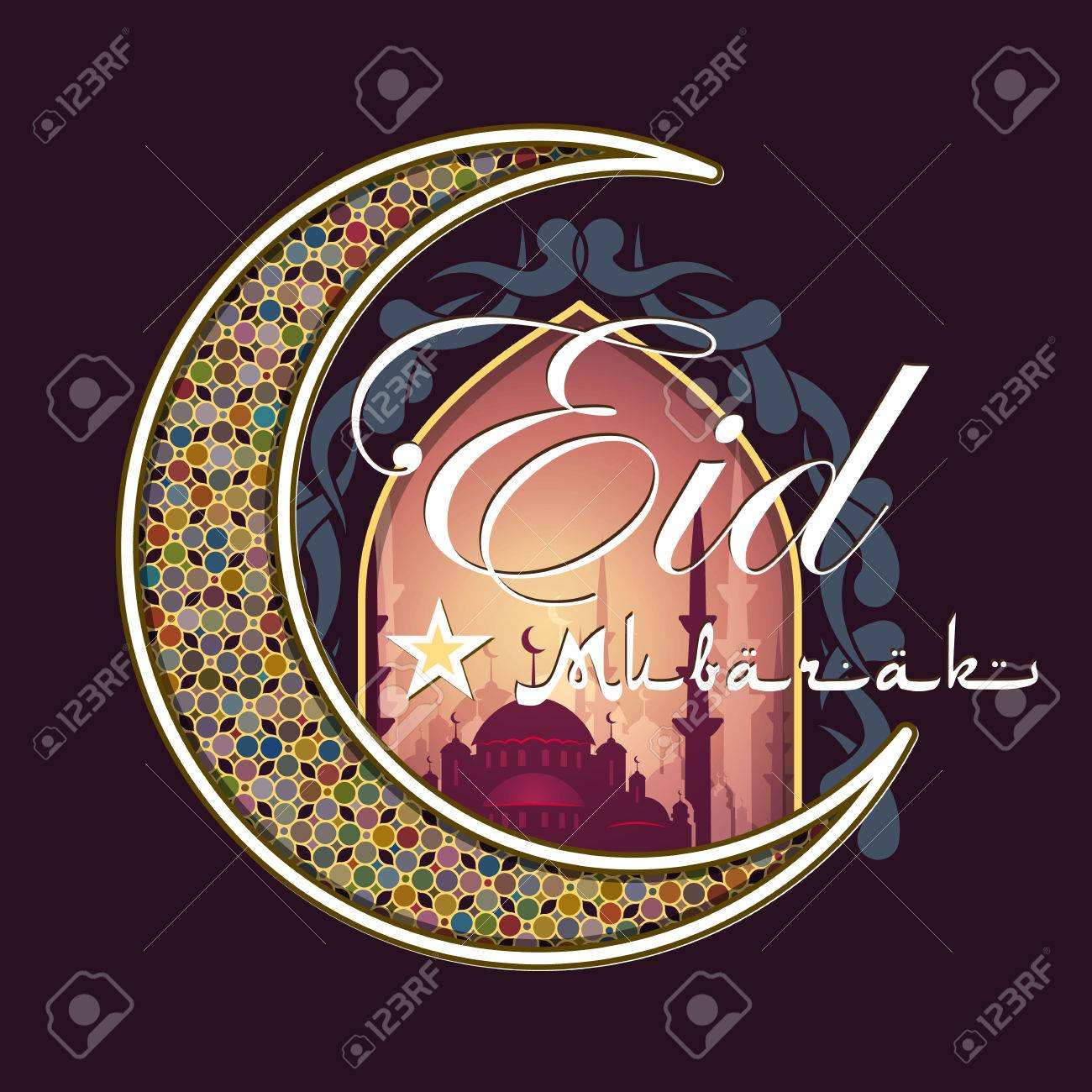 Good Arabic Eid Al-Fitr Feast - 59282133-calligraphy-of-arabic-text-eid-al-fitr-feast-of-breaking-the-fast-holiday-greeting-card-in-retro-sty  Image_584852 .jpg