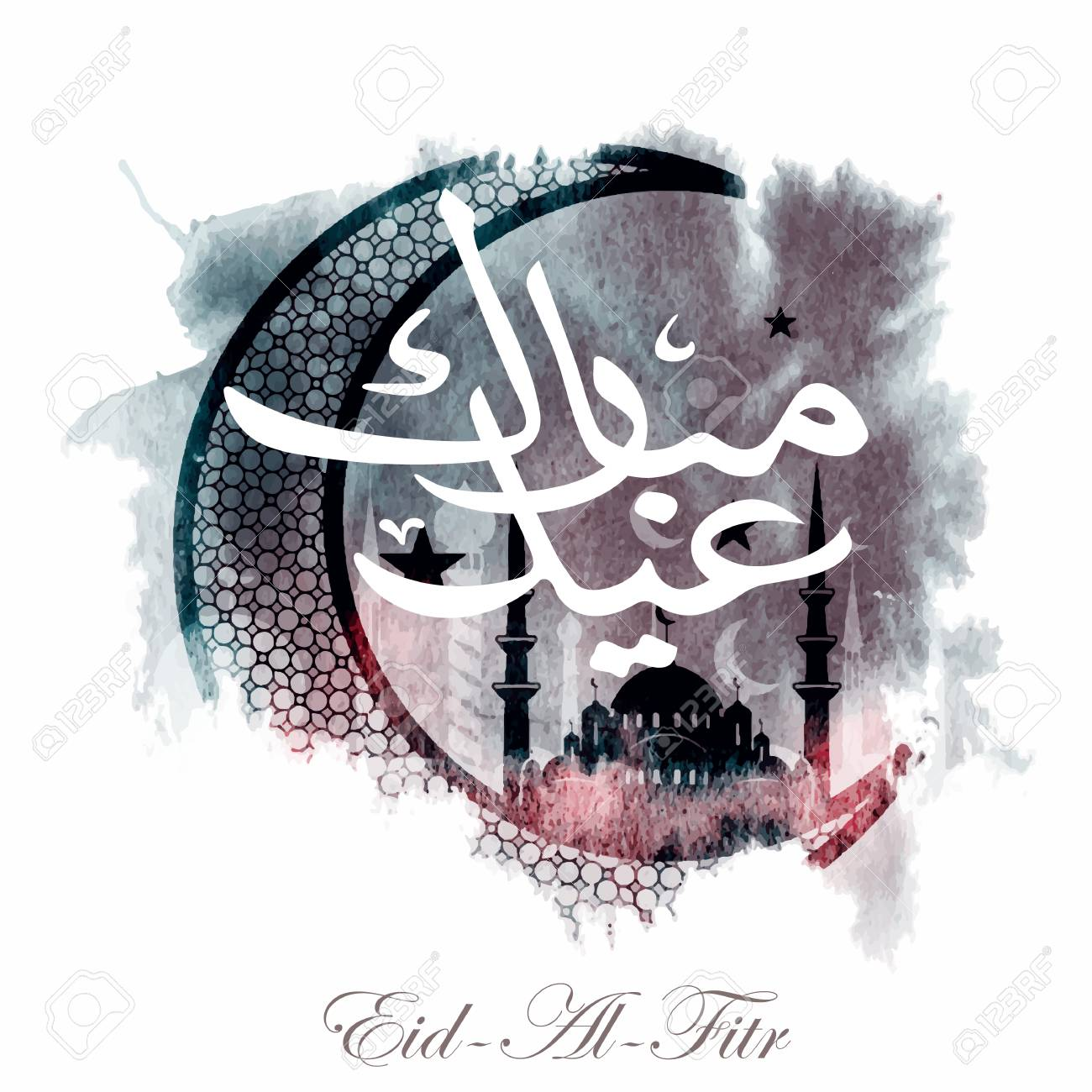 Simple Arabic Eid Al-Fitr Feast - 77678342-calligraphy-of-arabic-text-eid-al-fitr-feast-of-breaking-the-fast-holiday-greeting-card-in-retro-sty  Pic_159816 .jpg