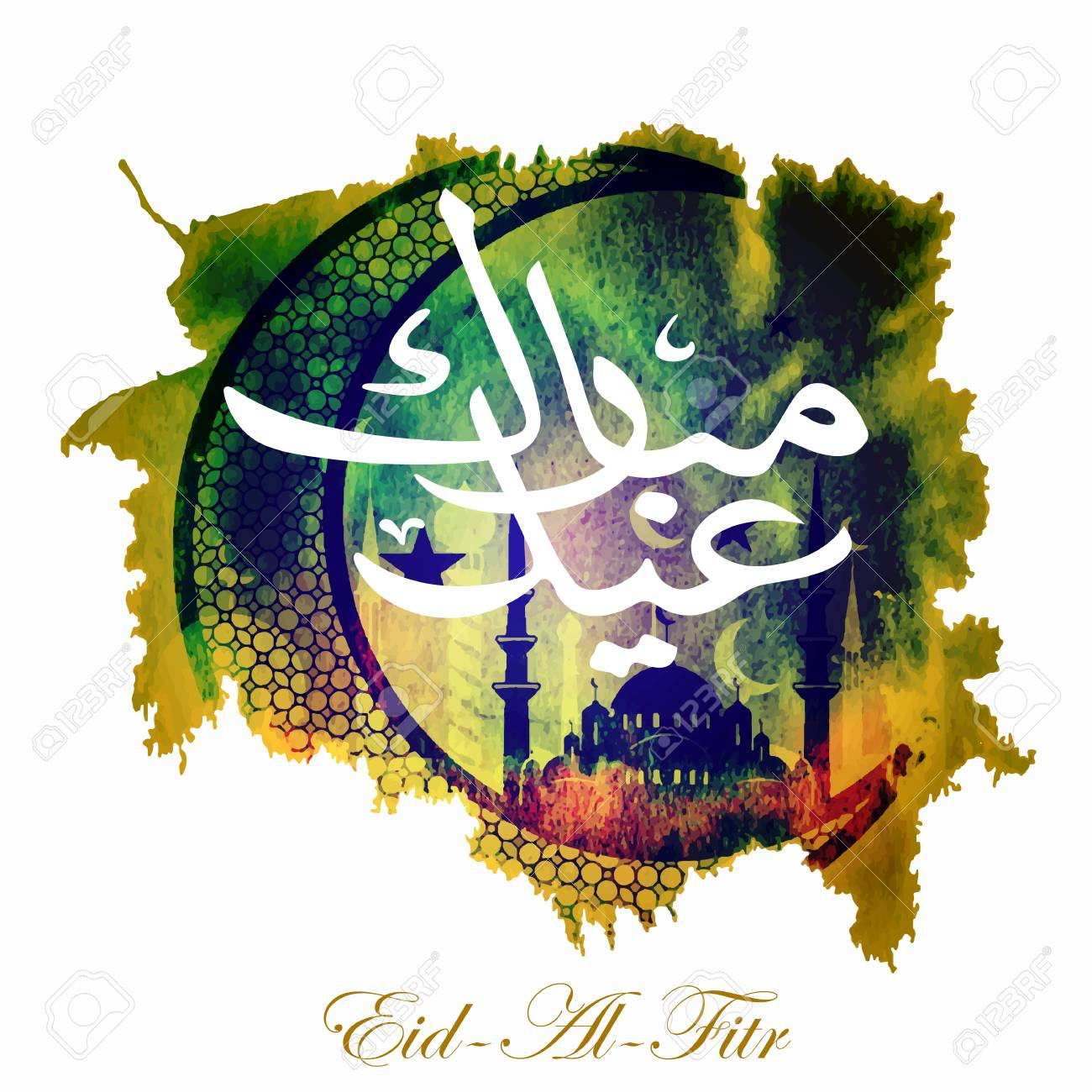 Simple Arabic Eid Al-Fitr Feast - 78762214-calligraphy-of-arabic-text-eid-al-fitr-feast-of-breaking-the-fast-holiday-greeting-card-in-retro-sty  Pic_159816 .jpg