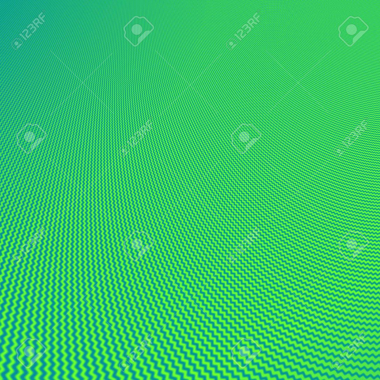 Abstract Verde E Azzurro Sullo Sfondo Frattale A Zig Zag Strisce Tema Anteprima Può Contenere Moire Non Esistente In Materia Di Foto Zoom