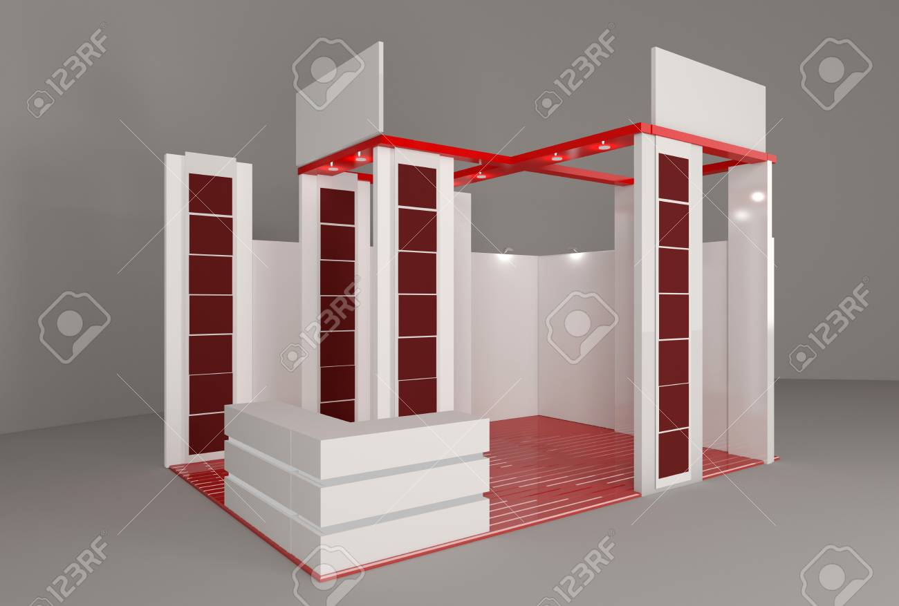 Exhibition Stand Advertising : Trade exhibition stand exhibition round d rendering