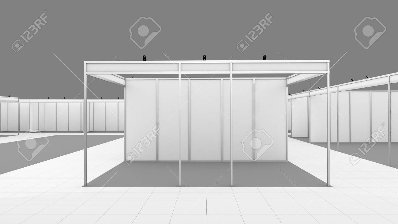 Exhibition Booth Blank : Blank modern booth exhibition design stock photo alamy