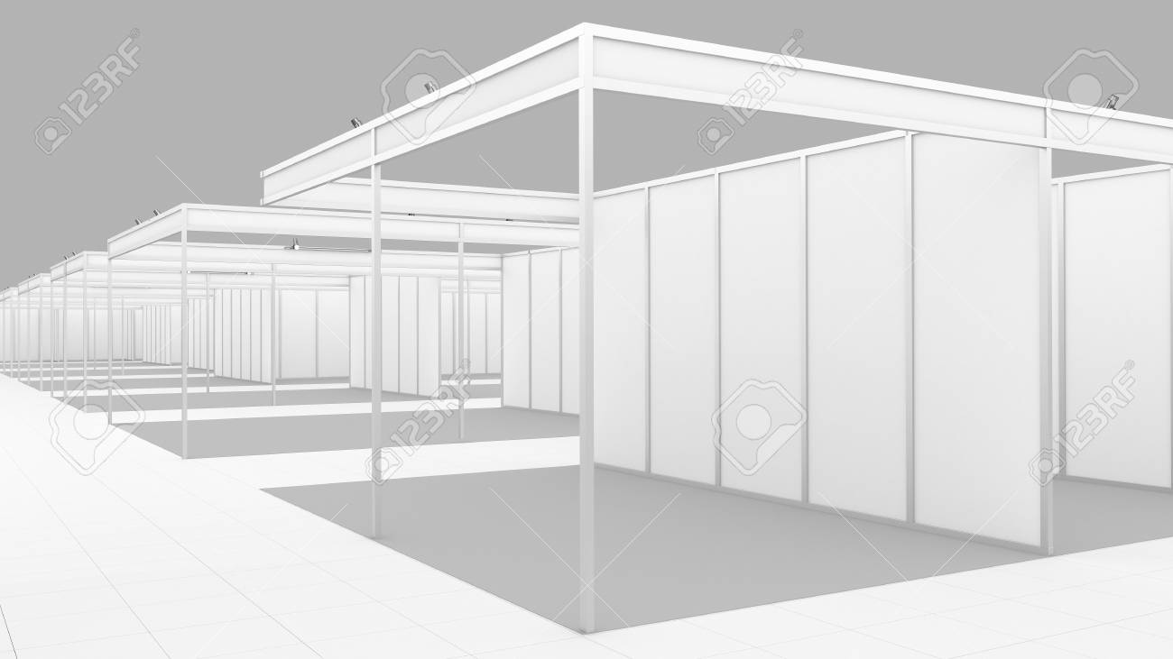Exhibition Booth Blank : Vector white blank vector photo free trial bigstock