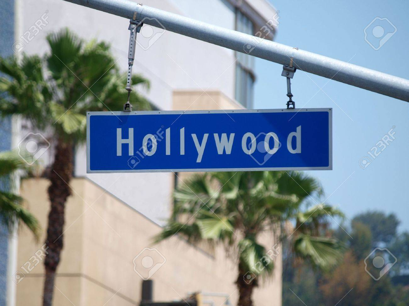 Hollywood Blvd sign with palm tree backdrop. Stock Photo - 4890953